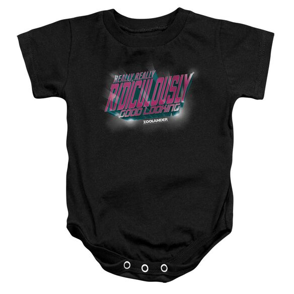 Zoolander Ridiculously Good Looking Infant Snapsuit Black Lg