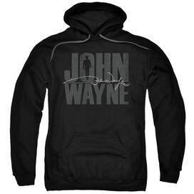 John Wayne Silhouette Sig Adult Pull Over Hoodie