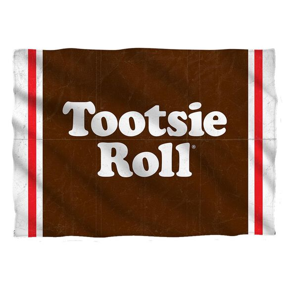 Tootsie Roll Wrapper Pillow Case White
