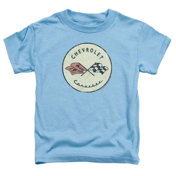 Chevrolet Old Vette Short Sleeve Toddler Tee Carolina Blue T-Shirt