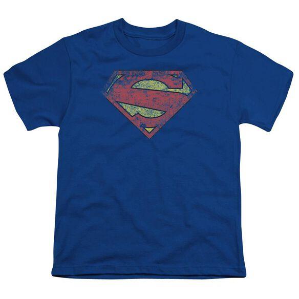 Superman New 52 Shield Short Sleeve Youth Royal T-Shirt
