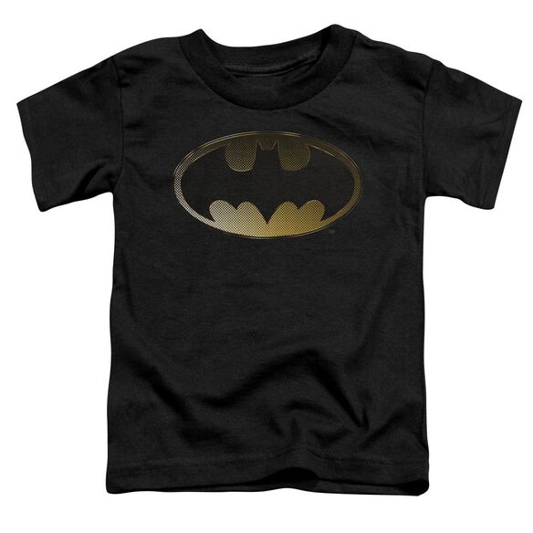 Batman Halftone Bat Short Sleeve Toddler Tee Black Md T-Shirt