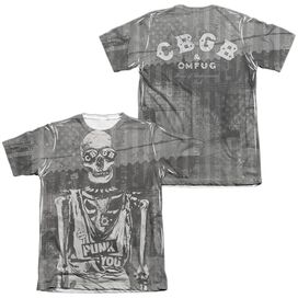 Cbgb Punk You (Front Back Print) Adult Poly Cotton Short Sleeve Tee T-Shirt