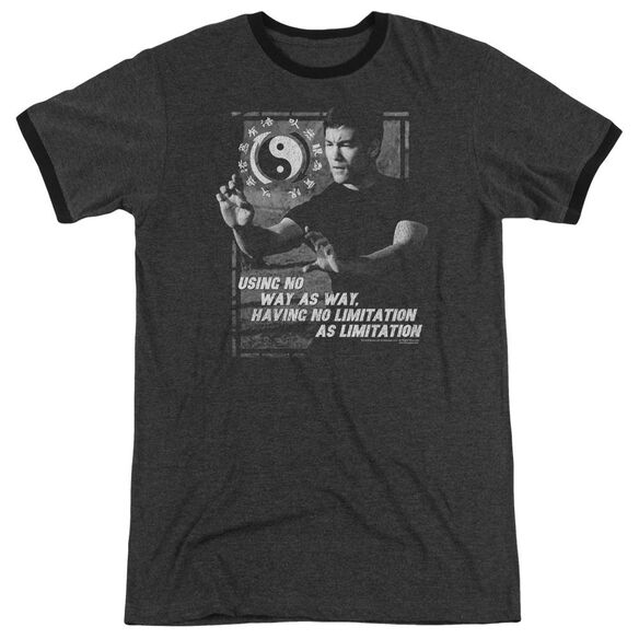 Bruce Lee No Way As A Way Adult Heather Ringer Charcoal