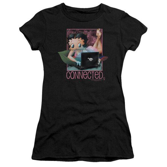 Betty Boop Connected Short Sleeve Junior Sheer T-Shirt
