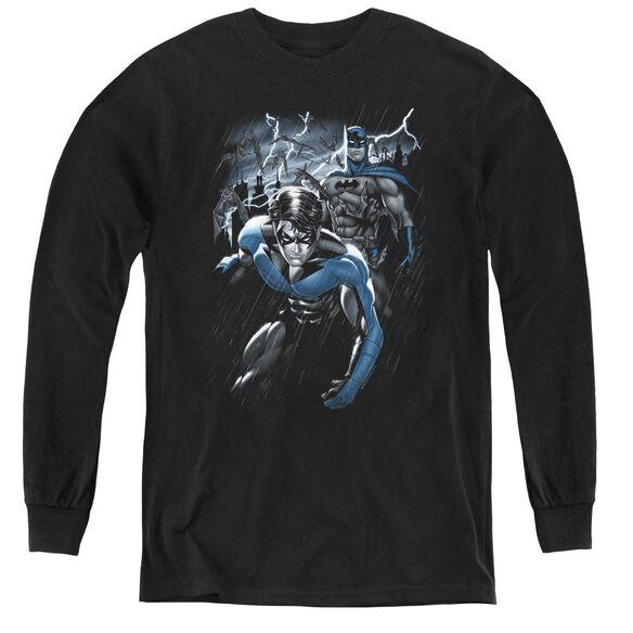 Batman Dynamic Duo - Youth Long Sleeve Tee - Black