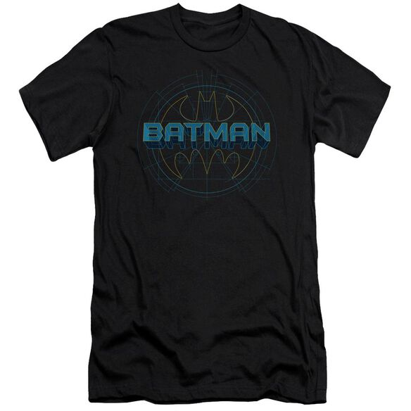 BATMAN BAT TECH LOGO - S/S ADULT 30/1 - BLACK T-Shirt