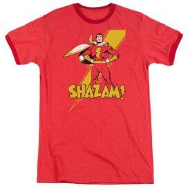Dc Shazam! Adult Heather Ringer Red