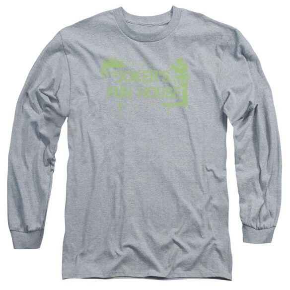 Arkham City Joker's Fun House Long Sleeve Adult Athletic T-Shirt