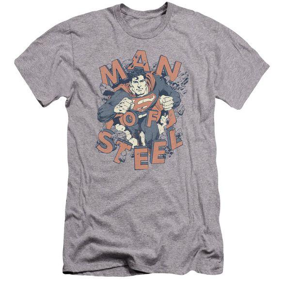 Superman Coming Through Premuim Canvas Adult Slim Fit Athletic