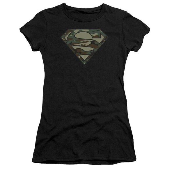 Superman Camo Logo Premium Bella Junior Sheer Jersey