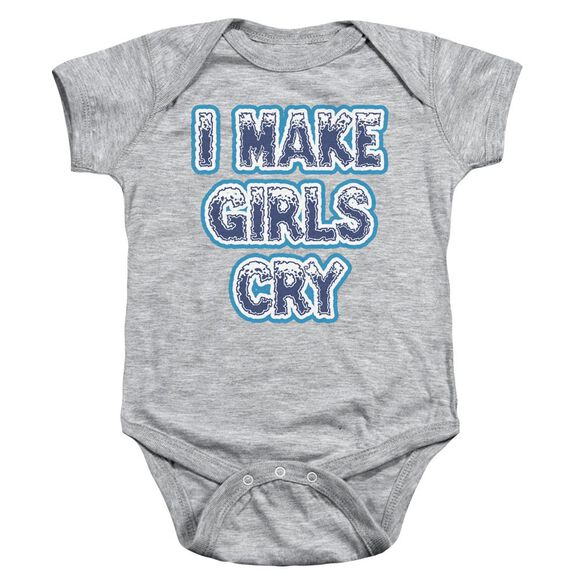 I Make Girls Cry Infant Snapsuit Athletic Heather Xl