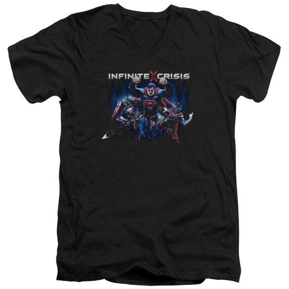 Infinite Crisis Ic Super Short Sleeve Adult V Neck T-Shirt