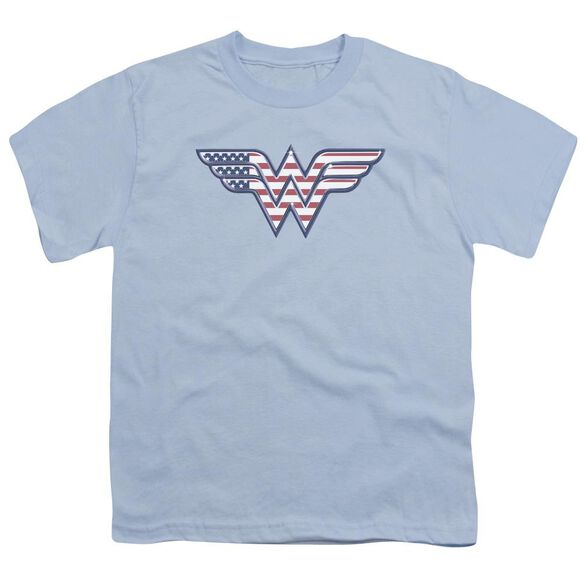 Dc Red,White & Short Sleeve Youth Light T-Shirt