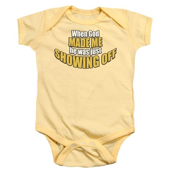 Showing Off Infant Snapsuit Banana Md