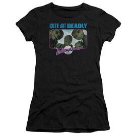 Galaxy Quest Cute But Deadly Short Sleeve Junior Sheer T-Shirt