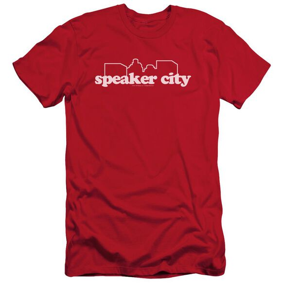 Old School Speaker City Logo Short Sleeve Adult T-Shirt
