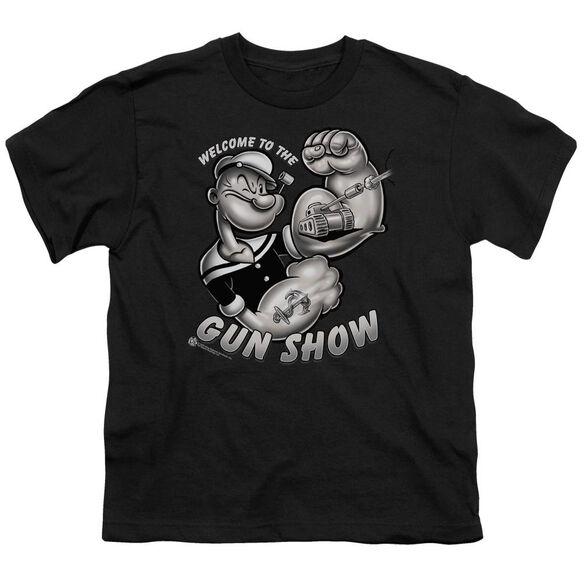 POPEYE GUN SHOW - S/S YOUTH 18/1 - BLACK T-Shirt
