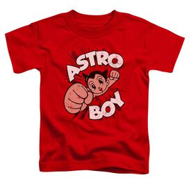Astro Boy Flying Short Sleeve Toddler Tee Red T-Shirt