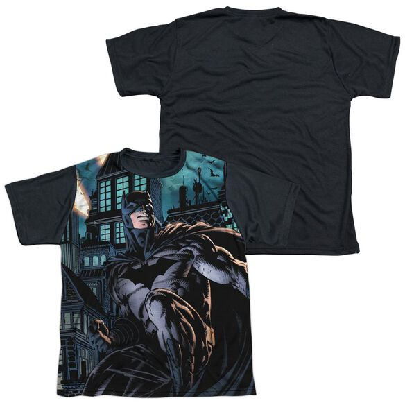 Batman Coming For You Short Sleeve Youth Front Black Back T-Shirt