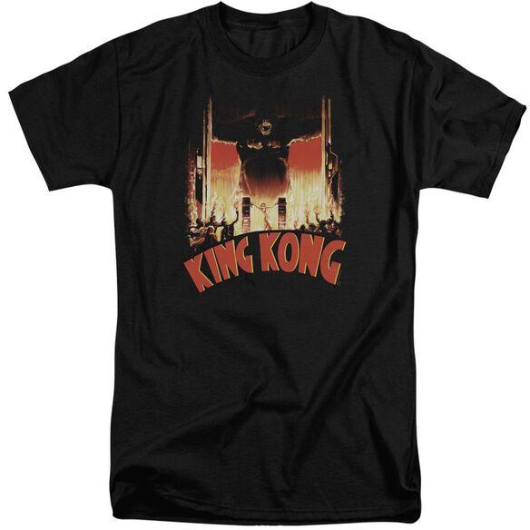 King Kong At The Gates Short Sleeve Adult Tall T-Shirt
