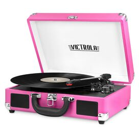 Victrola Bluetooth Suitcase Record Player with 3-speed Turntable
