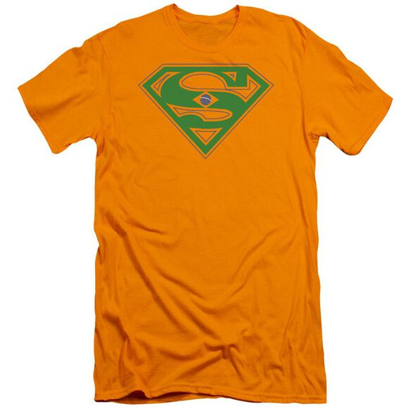 Superman Brazil Shield Premuim Canvas Adult Slim Fit