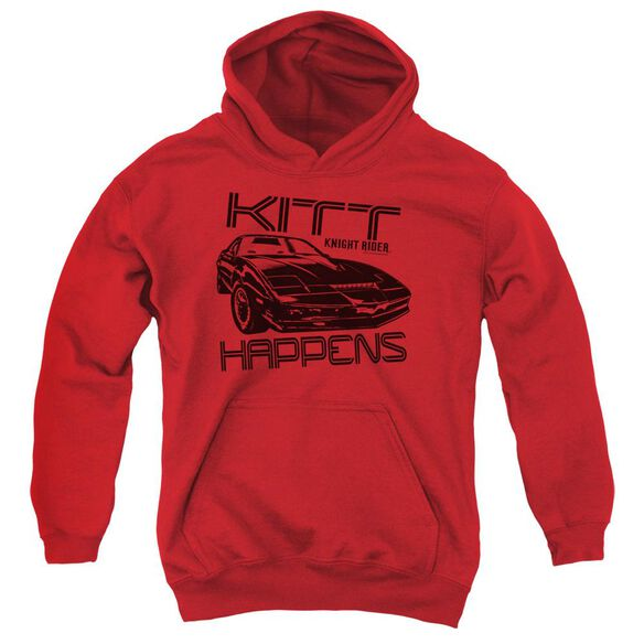 Knight Rider Kitt Happens Youth Pull Over Hoodie