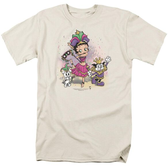 Betty Boop Celebration Short Sleeve Adult Cream T-Shirt
