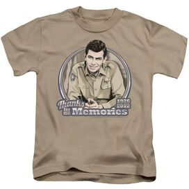 Andy Griffith Thanks For The Memories Short Sleeve Juvenile Sand T-Shirt
