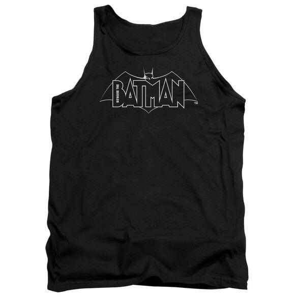 Beware The Batman B&W Logo Adult Tank