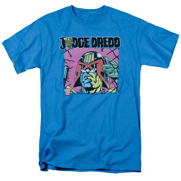 Judge Dredd Fenced Short Sleeve Adult Turquoise T-Shirt