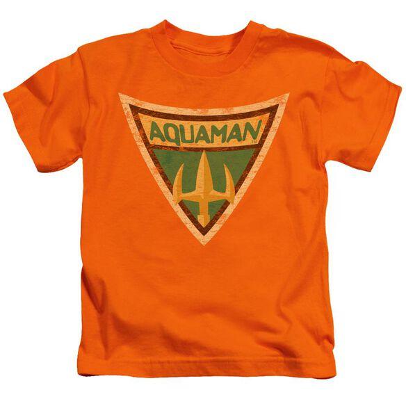 Batman Bb Aquaman Shield Short Sleeve Juvenile Orange T-Shirt