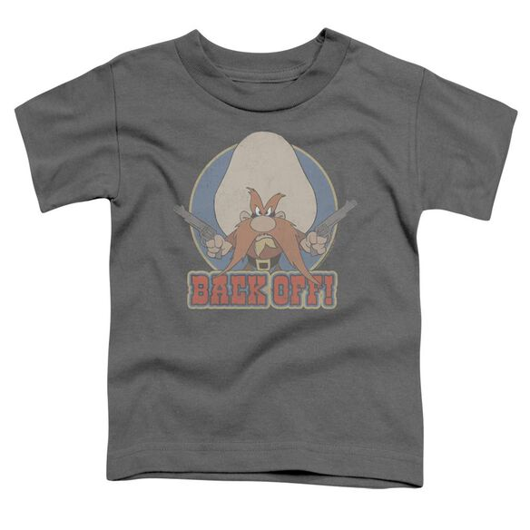 Looney Tunes I Said Back Off Short Sleeve Toddler Tee Charcoal T-Shirt