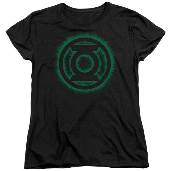 Green Lantern Green Flame Logo Short Sleeve Womens Tee T-Shirt