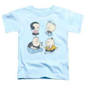 Popeye Four Friends Short Sleeve Toddler Tee Light Blue T-Shirt