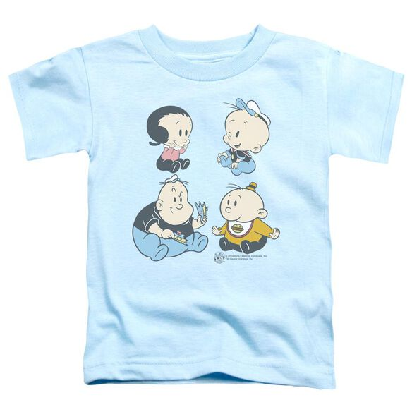 Popeye Four Friends Short Sleeve Toddler Tee Light Blue T-Shirt
