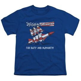 THREE STOOGES MISSION ACCOMPLISHED - S/S YOUTH 18/1 - ROYAL BLUE T-Shirt