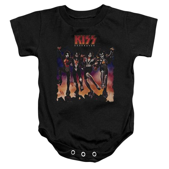 Kiss Destroyer Cover Infant Snapsuit Black