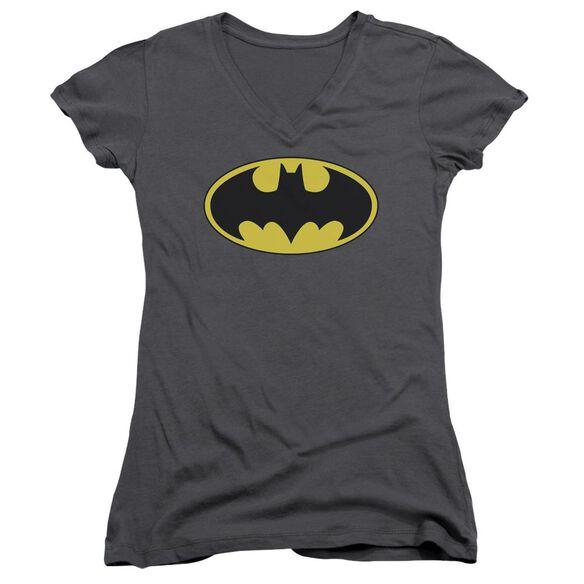 Batman Classic Bat Logo Junior V Neck T-Shirt
