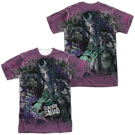 Suicide Squad Enchantress Psychedelic Cartoon (Front Back Print) Short Sleeve Adult Poly Crew T-Shirt