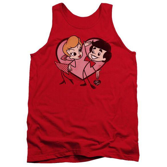 I Love Lucy Cartoon Love Adult Tank