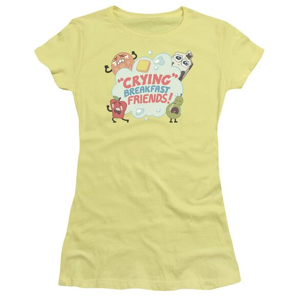 Steven Universe Crying Breakfast Friends Short Sleeve Junior Sheer T-Shirt