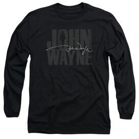 John Wayne Silhouette Sig Long Sleeve Adult T-Shirt
