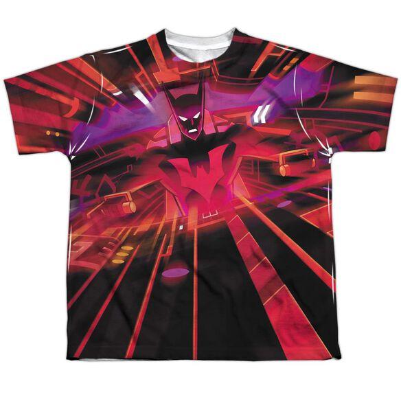 Batman Beyond Batmobile Interior Short Sleeve Youth Poly Crew T-Shirt