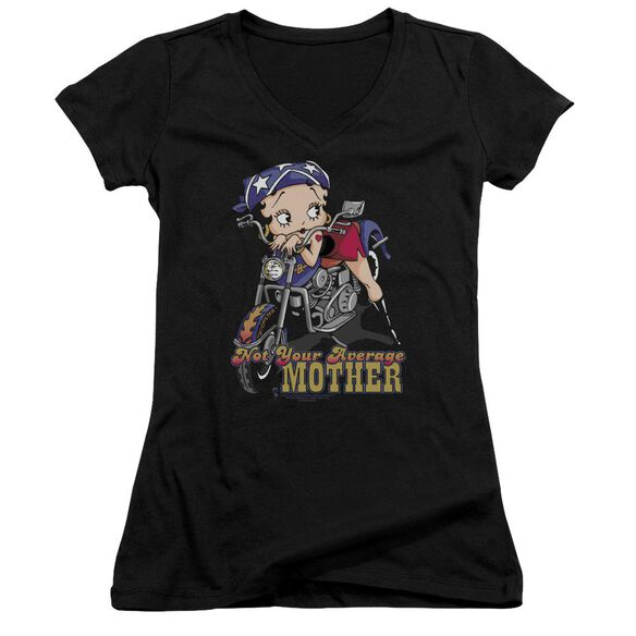 Betty Boop Not Your Average Mother Junior V Neck T-Shirt