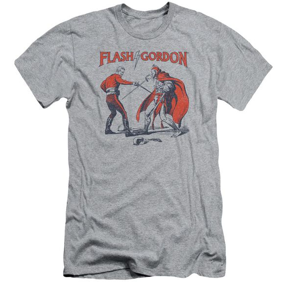 Flash Gordon Duel Short Sleeve Adult Athletic T-Shirt
