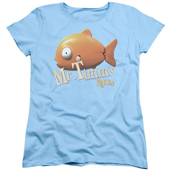 Rango Mr Timms Short Sleeve Womens Tee Light T-Shirt