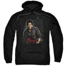 Vampire Diaries Damon Adult Pull Over Hoodie Black