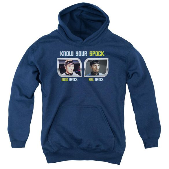 St Original Know Your Spock Youth Pull Over Hoodie